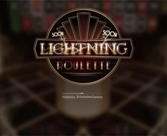 Lightning Roulette door Evolution Gaming